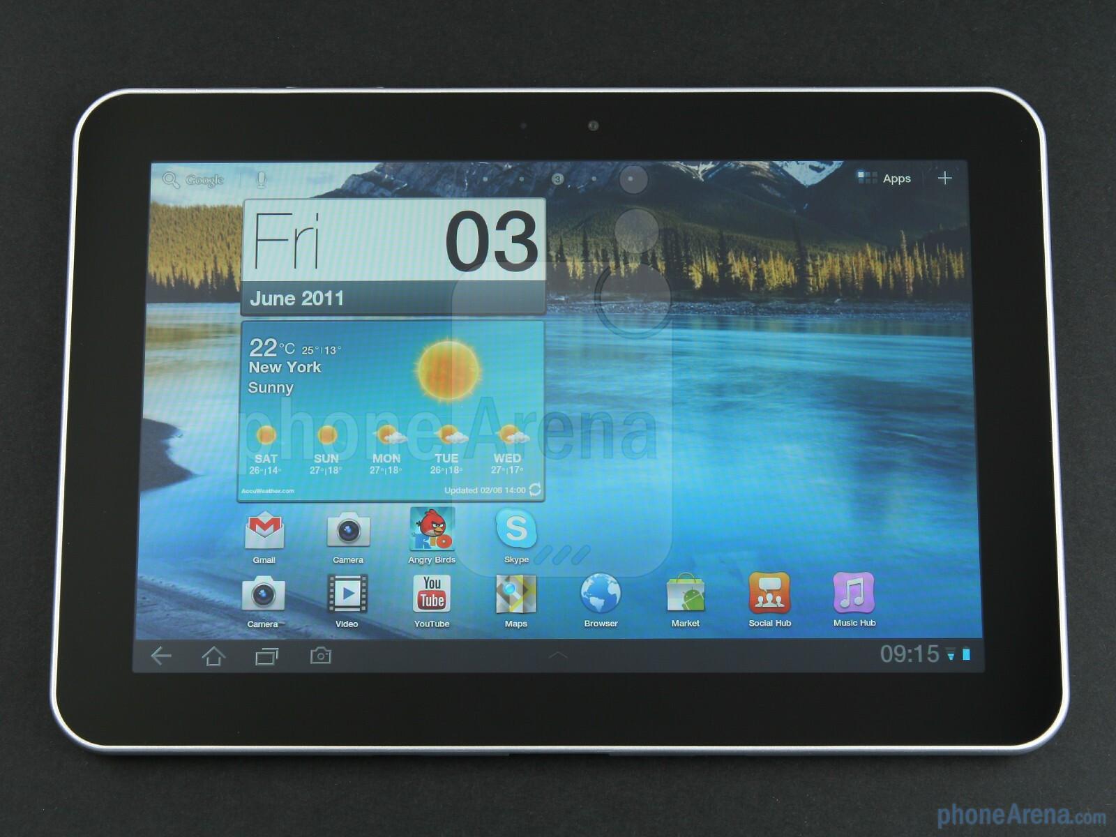 "The 8.9"" TFT screen has a resolution of 1280x800 pixels - Samsung GALAXY  Tab 8.9"