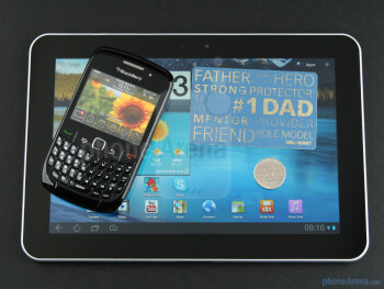 With RIM BlackBerry Curve 8520 - Samsung GALAXY Tab 8.9 Preview