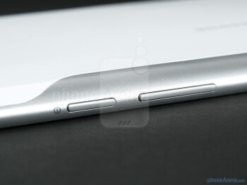 The power button and the volume rocker - Samsung GALAXY Tab 10.1 Preview