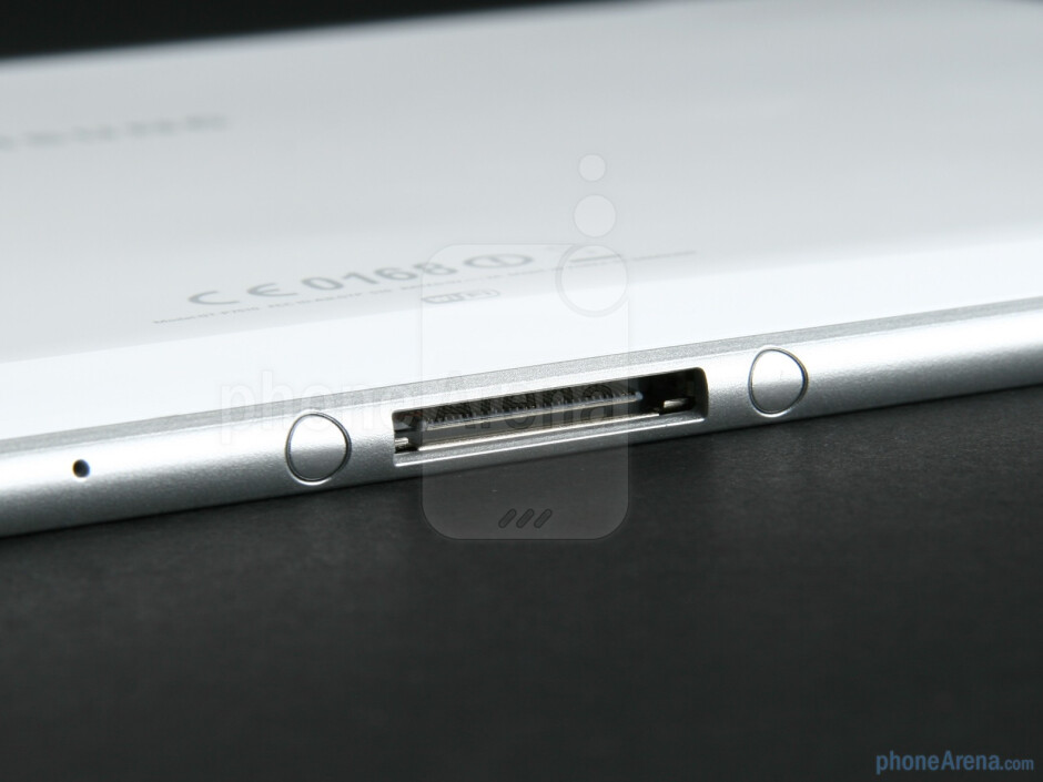 The proprietary dock connector - Samsung GALAXY Tab 10.1 Review