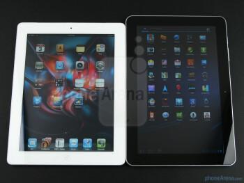 Apple iPad 2 (Left), Samsung GALAXY Tab 10.1  (Right) - Samsung GALAXY Tab 10.1 Review