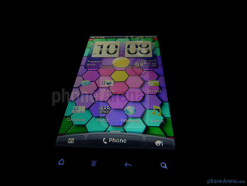 The display on the HTC Sensation 4G is a qHD Super LCD with a Gorilla Glass fascia - HTC Sensation 4G Review