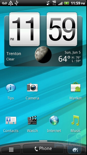 The HTC Sensation 4G runs HTC Sense 3.0 on top of Gingerbread  - Customizing - HTC Sensation 4G Review