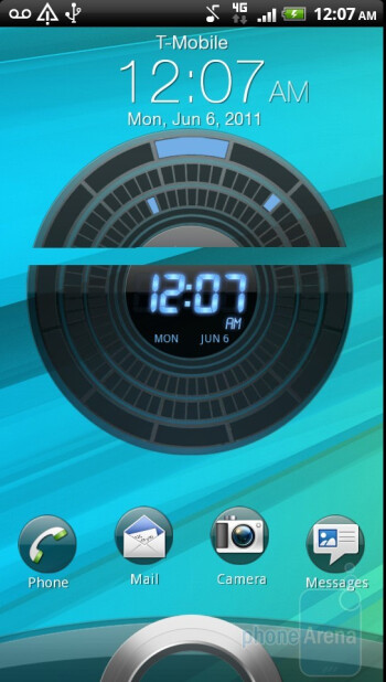 The lock screen - HTC Sensation 4G Review