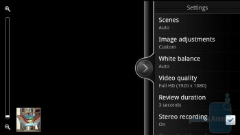 Camera interface - HTC Sensation 4G Review