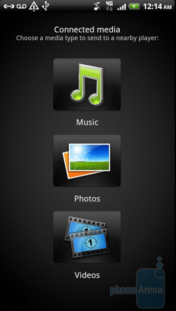 Connected Media - Preinstalled applications on the HTC Sensation 4G - HTC Sensation 4G Review