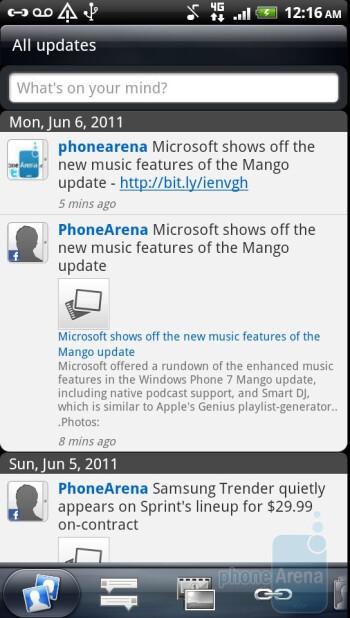 Friend Stream - Preinstalled applications on the HTC Sensation 4G - HTC Sensation 4G Review