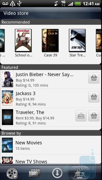 The Watch app on HTC Sensation - HTC Sensation vs Samsung Galaxy S II