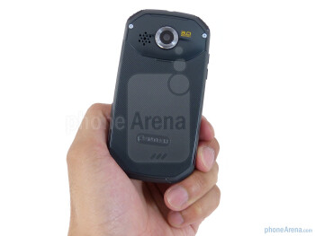 The Pantech Crossover has plastic exterior and angular cutout corners - Pantech Crossover Review