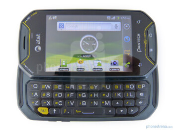 The Pantech Crossover has a 4-row QWERTY keyboard - Pantech Crossover Review