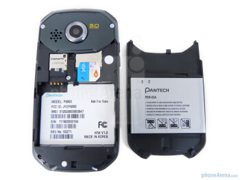 Under the battery cover - The back side - Pantech Crossover Review