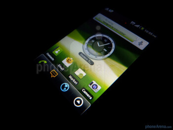 The phone has 3.1 inch LCD touchscreen - Pantech Crossover Review