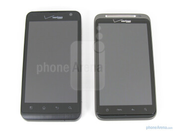 "Both phones feature a 4.3"" WVGA resolution TFT display - LG Revolution vs HTC ThunderBolt"