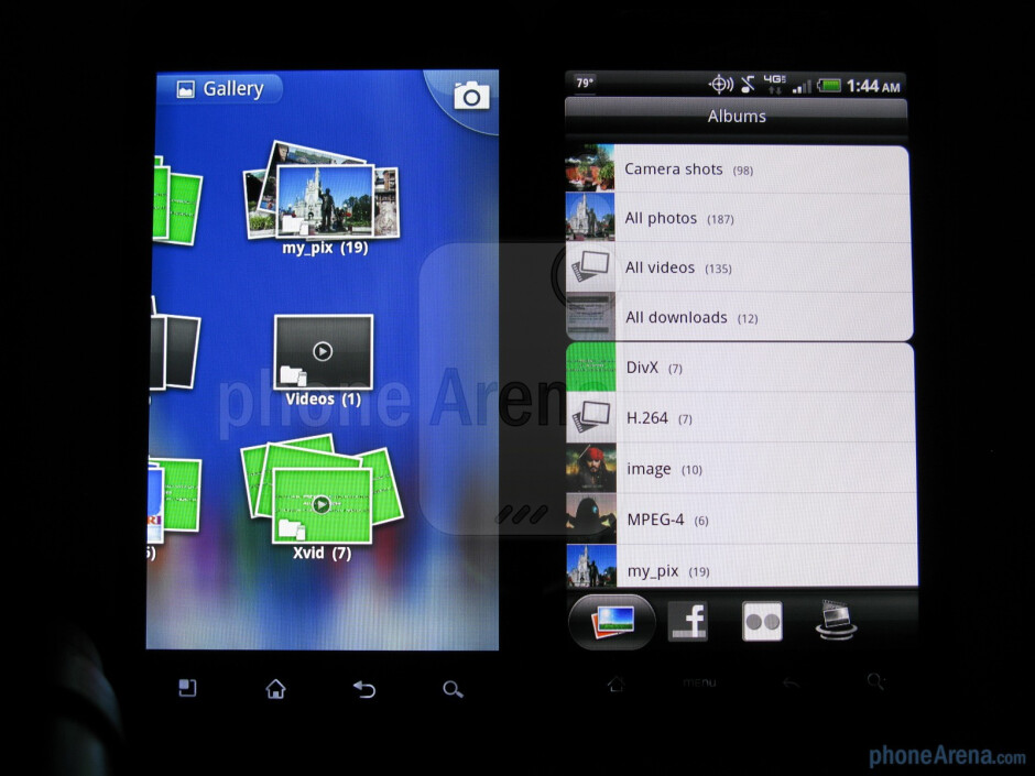 Gallery of the LG Revolution (L) and HTC ThunderBolt (R) - LG Revolution vs HTC ThunderBolt