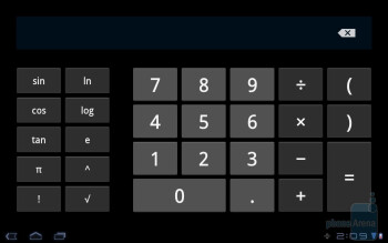 Calculator - Samsung GALAXY Tab 10.1 Review