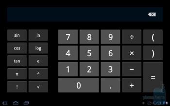 Calculator - Samsung GALAXY Tab 10.1 Review