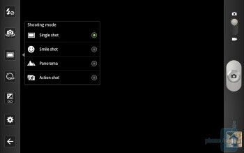 Camera interface - Camcorder interface - Samsung GALAXY Tab 10.1 Review