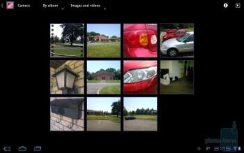The Gallery app of Samsung Galaxy Tab 10.1 - HP TouchPad vs Samsung Galaxy Tab 10.1