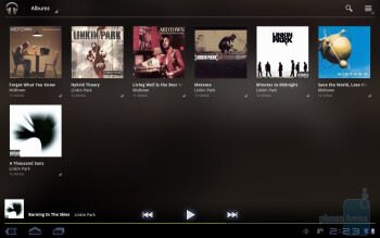 Music player of the Samsung Galaxy Tab 10.1 - Samsung Galaxy Tab 10.1 vs Apple iPad 2