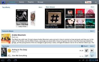 The Music Hub app - Samsung GALAXY Tab 10.1 Review