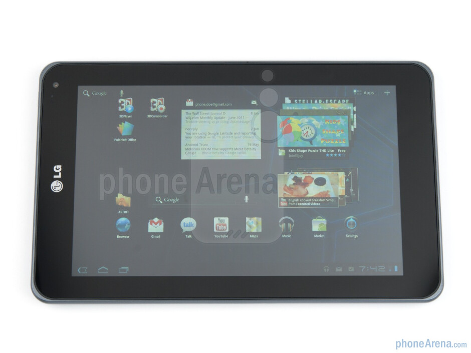 The LG Optimus Pad has borrowed the curves and feel of the LG Optimus 2X - LG Optimus Pad Review