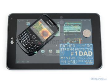 LG Optimus Pad (bottom), BlackBerry Curve 8520 - LG Optimus Pad Review