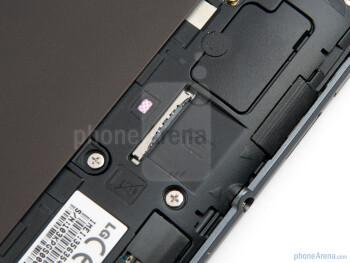 The SIM card slot - LG Optimus Pad Review