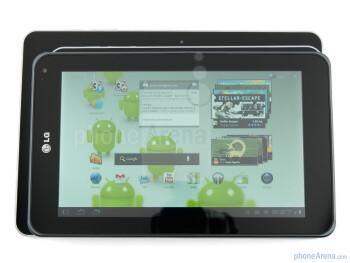 LG Optimus Pad (top), Samsung Galaxy Tab 8.9 (middle), Samsung Galaxy Tab 10.1 (bottom) - LG Optimus Pad Review