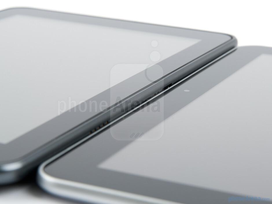 LG Optimus Pad (left), Samsung Galaxy Tab 8.9 (right) - LG Optimus Pad Review