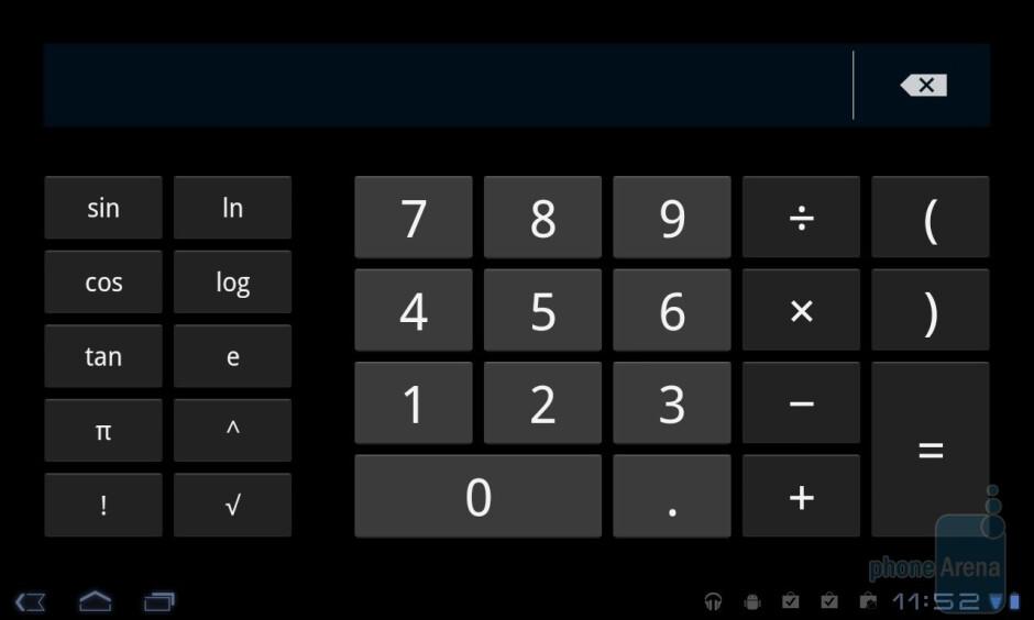 Calculator - LG Optimus Pad Review