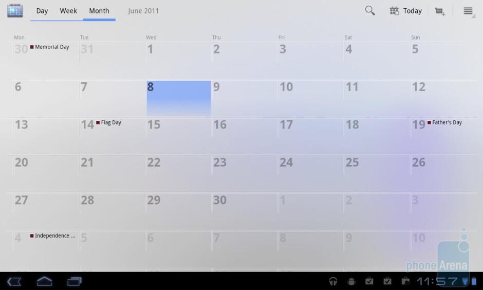 Calendar - LG Optimus Pad Review
