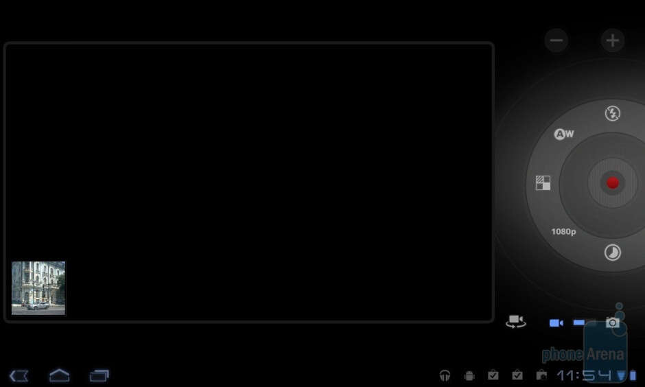The video camera interface - LG Optimus Pad Review