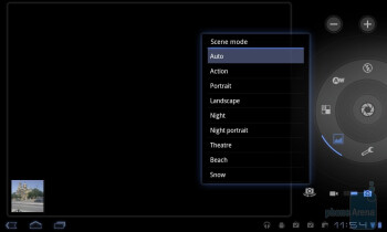 The camera interface - LG Optimus Pad Review