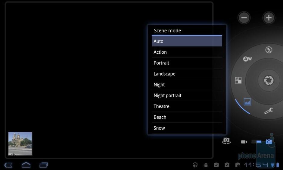 The camera interface - LG Optimus Pad Review