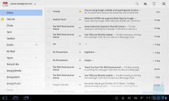 E-mail - LG Optimus Pad Review