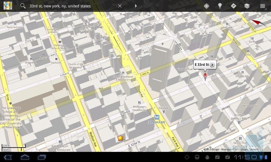 Google Maps - LG Optimus Pad Review