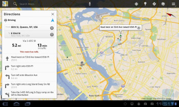 Google Maps - LG Optimus Pad Review