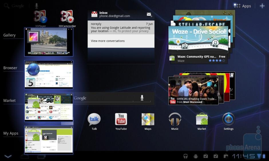 The LG Optimus Pad runs Android 3.0 Honeycomb - LG Optimus Pad Review