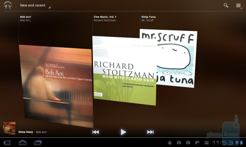 The music player - LG Optimus Pad Review