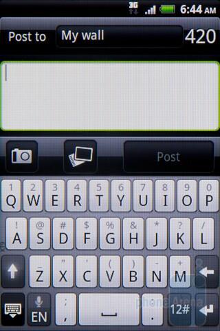 Facebook integration - HTC Salsa Review