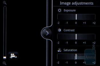 Camera interface - HTC Salsa Review