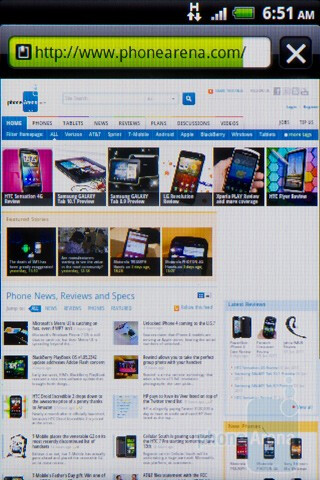Web browsing - HTC Salsa Review