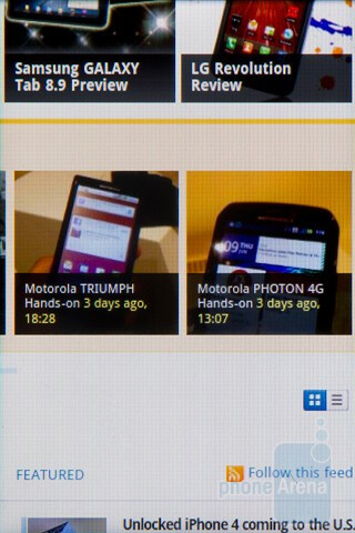 Web browsing - HTC Salsa Review