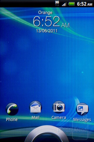 Sense 3.0 lock screen - The HTC Salsa's interface - HTC Salsa Review