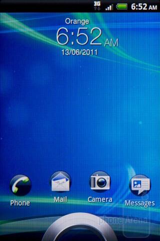 Sense 3.0 lock screen - The HTC Salsa's interface - HTC Salsa Review