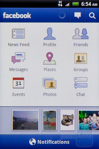 Facebook integration - HTC Salsa Review