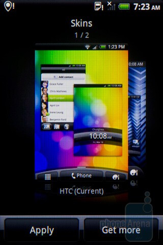 The HTC Salsa's interface - HTC Salsa Review