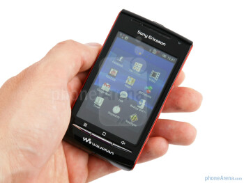 The Sony Ericsson W8 Walkman is built entirely out of plastic - Sony Ericsson W8 Walkman Review