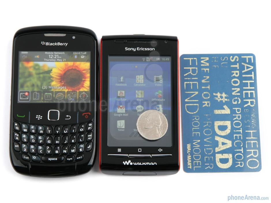 Next to the RIM BlackBerry Curve 8520 - Sony Ericsson W8 Walkman Review