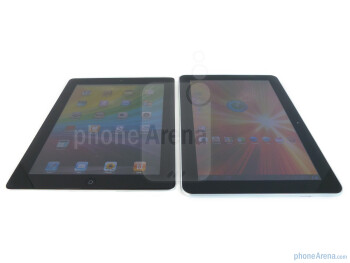 The Apple iPad 2 (L) and the Samsung Galaxy Tab 10.1 (R) - Samsung Galaxy Tab 10.1 vs Apple iPad 2